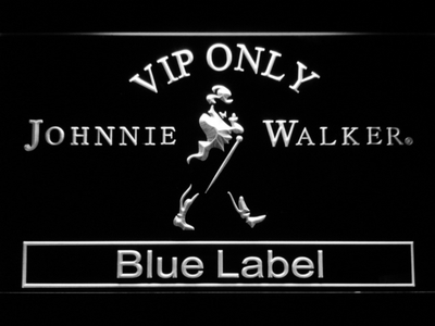 Johnnie Walker Blue Label VIP Only LED Neon Sign - White - SafeSpecial