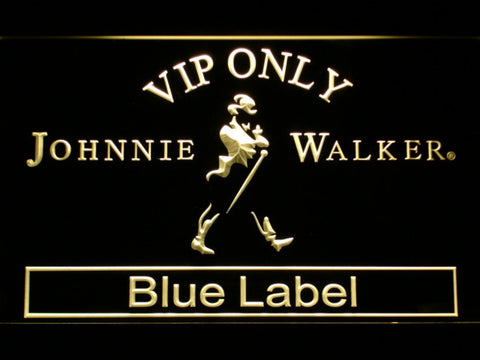 Image of Johnnie Walker Blue Label VIP Only LED Neon Sign - Yellow - SafeSpecial