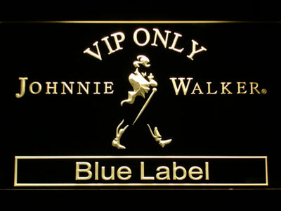 Johnnie Walker Blue Label VIP Only LED Neon Sign - Yellow - SafeSpecial