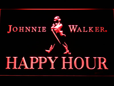 Johnnie Walker Happy Hour LED Neon Sign - Red - SafeSpecial