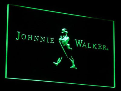 Johnnie Walker LED Neon Sign - Green - SafeSpecial