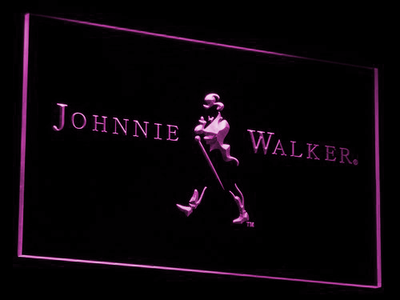 Johnnie Walker LED Neon Sign - Purple - SafeSpecial