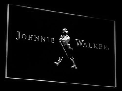 Johnnie Walker LED Neon Sign - White - SafeSpecial