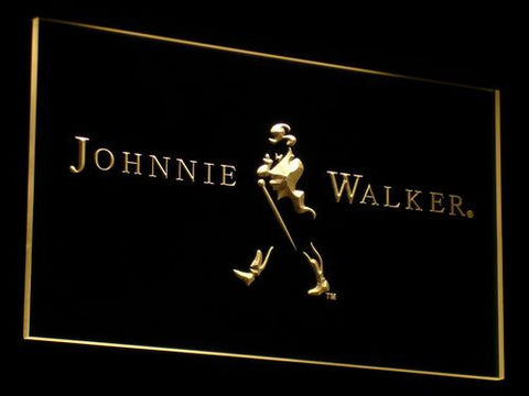 Johnnie Walker LED Neon Sign - Yellow - SafeSpecial