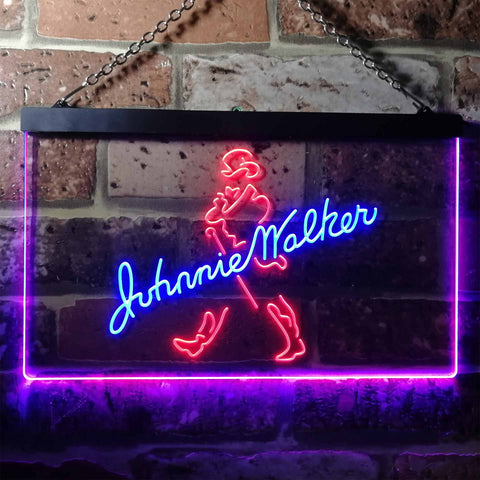 Image of Johnnie Walker Logo 1 Neon-Like LED Sign - Dual Color