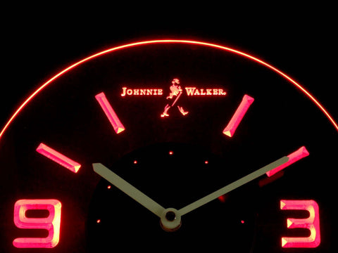 Johnnie Walker Modern LED Neon Wall Clock #1: johnnie walker modern led neon wall clock red 3 large v=
