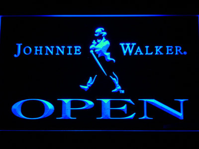 Johnnie Walker Open LED Neon Sign - Blue - SafeSpecial