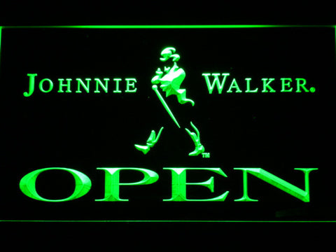 Image of Johnnie Walker Open LED Neon Sign - Green - SafeSpecial