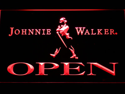Johnnie Walker Open LED Neon Sign - Red - SafeSpecial
