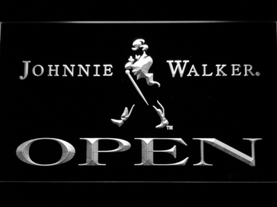 Johnnie Walker Open LED Neon Sign - White - SafeSpecial
