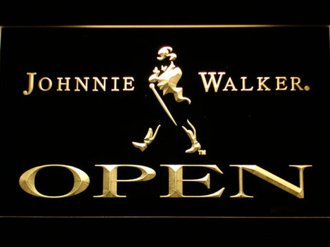 Image of Johnnie Walker Open LED Neon Sign - Yellow - SafeSpecial