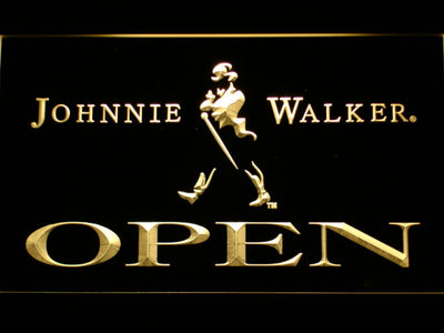 Johnnie Walker Open LED Neon Sign - Yellow - SafeSpecial