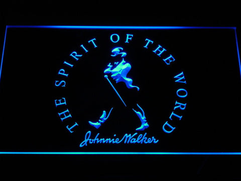 Image of Johnnie Walker The Spirit of The World LED Neon Sign - Blue - SafeSpecial
