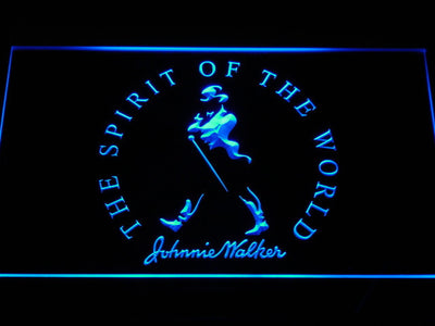 Johnnie Walker The Spirit of The World LED Neon Sign - Blue - SafeSpecial