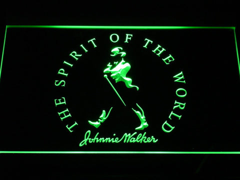 Image of Johnnie Walker The Spirit of The World LED Neon Sign - Green - SafeSpecial