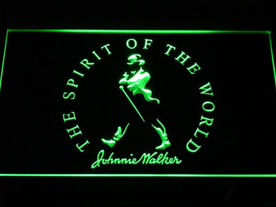 Johnnie Walker The Spirit of The World LED Neon Sign - Green - SafeSpecial