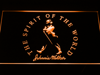 Johnnie Walker The Spirit of The World LED Neon Sign - Orange - SafeSpecial