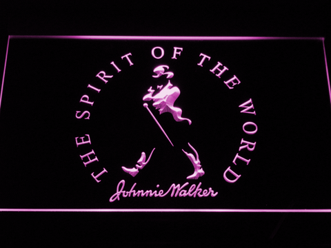Image of Johnnie Walker The Spirit of The World LED Neon Sign - Purple - SafeSpecial
