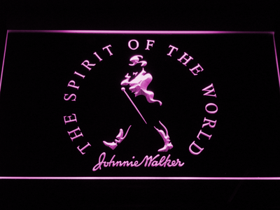 Johnnie Walker The Spirit of The World LED Neon Sign - Purple - SafeSpecial