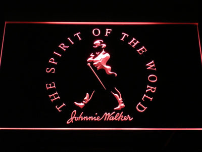 Johnnie Walker The Spirit of The World LED Neon Sign - Red - SafeSpecial