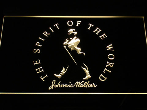 Image of Johnnie Walker The Spirit of The World LED Neon Sign - Yellow - SafeSpecial