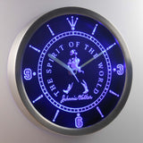 Johnnie Walker The Spirit of The World LED Neon Wall Clock - Blue - SafeSpecial