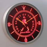 Johnnie Walker The Spirit of The World LED Neon Wall Clock - Red - SafeSpecial