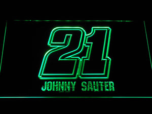 Johnny Sauter 21 LED Neon Sign - Green - SafeSpecial