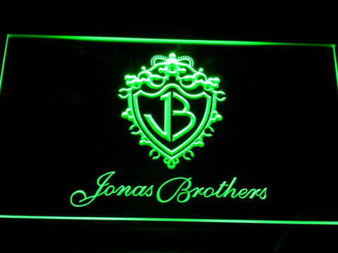 Jonas Brothers LED Neon Sign - Green - SafeSpecial