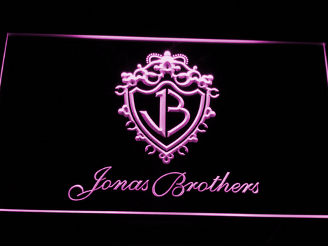 Jonas Brothers LED Neon Sign - Purple - SafeSpecial