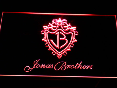 Jonas Brothers LED Neon Sign - Red - SafeSpecial