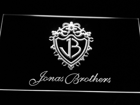 Jonas Brothers LED Neon Sign - White - SafeSpecial