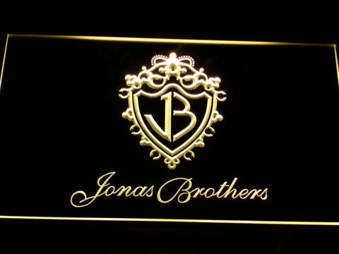 Jonas Brothers LED Neon Sign - Yellow - SafeSpecial