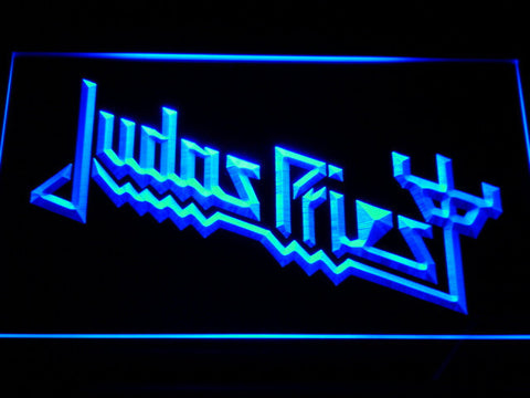 Image of Judas Priest LED Neon Sign - Blue - SafeSpecial