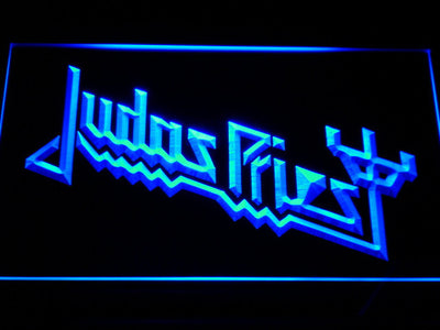 Judas Priest LED Neon Sign - Blue - SafeSpecial