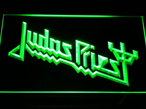 Image of Judas Priest LED Neon Sign - Green - SafeSpecial