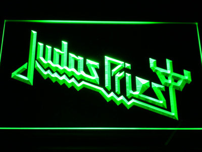 Judas Priest LED Neon Sign - Green - SafeSpecial