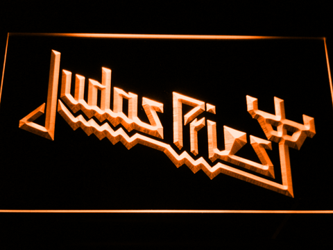 Image of Judas Priest LED Neon Sign - Orange - SafeSpecial