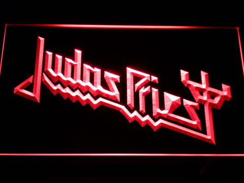 Image of Judas Priest LED Neon Sign - Red - SafeSpecial