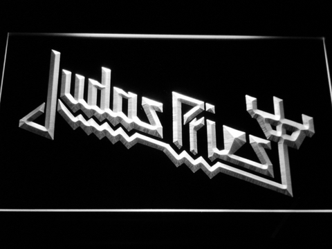 Judas Priest LED Neon Sign - White - SafeSpecial