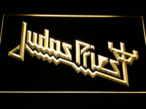 Image of Judas Priest LED Neon Sign - Yellow - SafeSpecial