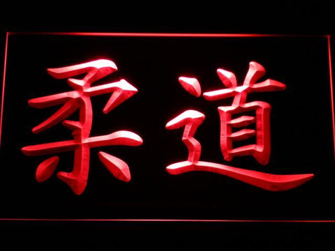 Judo Kanji LED Neon Sign - Red - SafeSpecial