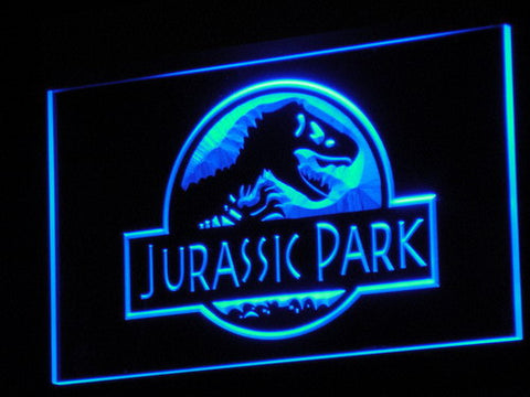 Image of Jurassic Park LED Neon Sign - Blue - SafeSpecial