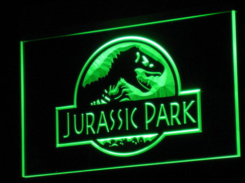 Image of Jurassic Park LED Neon Sign - Green - SafeSpecial