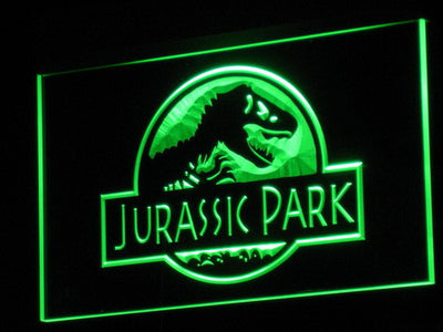 Jurassic Park LED Neon Sign - Green - SafeSpecial