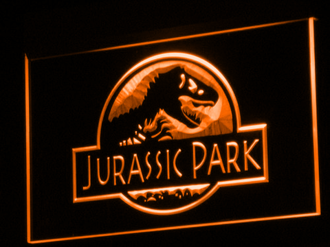 Image of Jurassic Park LED Neon Sign - Orange - SafeSpecial