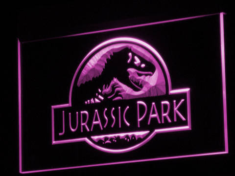 Image of Jurassic Park LED Neon Sign - Purple - SafeSpecial