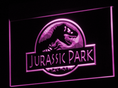 Jurassic Park LED Neon Sign - Purple - SafeSpecial