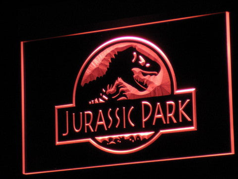 Image of Jurassic Park LED Neon Sign - Red - SafeSpecial