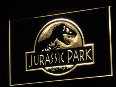 Jurassic Park LED Neon Sign - Yellow - SafeSpecial